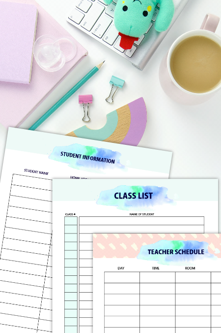 FREE Printable Teacher Planner 45+ School Organizing Templates! is part of School Organization Printables - I am beyond thrilled to share with you another work of heart, a free printable teacher planner! Calling all teachers! Ever wished you had a system to get organized in school  Here's a work of…