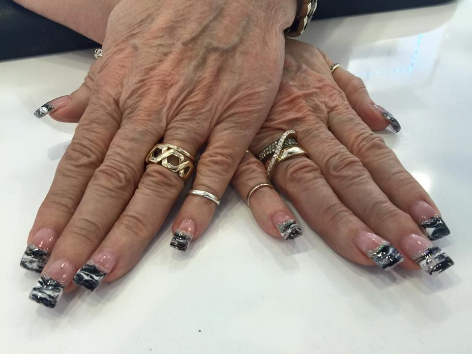 7 best regal nails radio road naples florida images on black and white nail art black and white nail tips french tips with designs prinsesfo Gallery