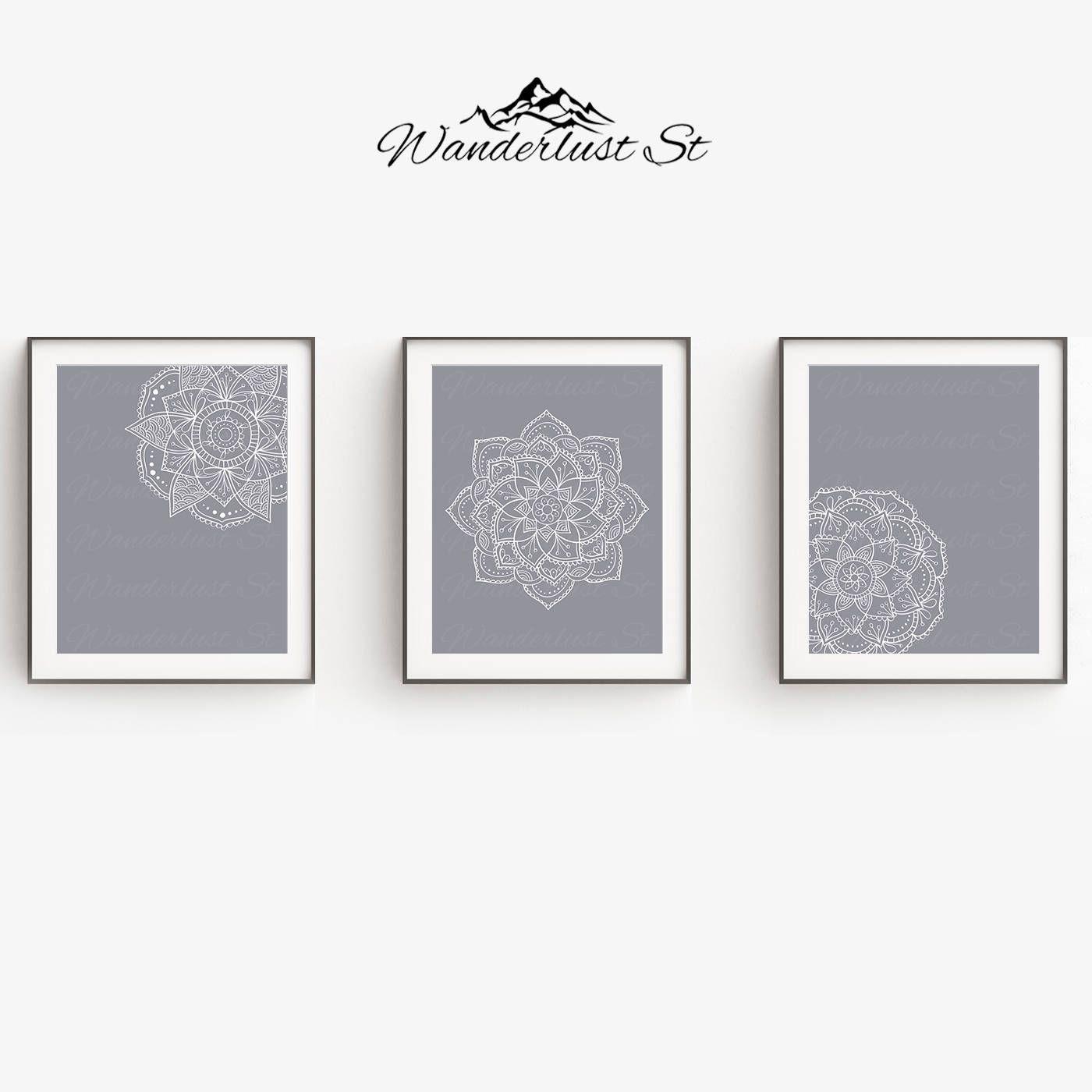Mandala Wall Art Living Room Decor Yoga Print Printable