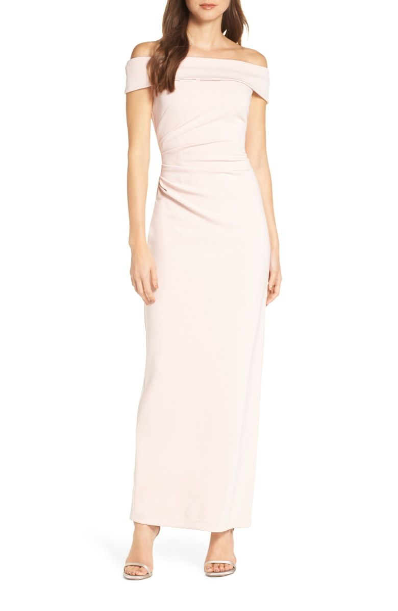 Vince Camuto Off The Shoulder Gown Nordstrom Nordstrom Prom Dresses Womens Prom Dresses Column Gown [ 1196 x 780 Pixel ]