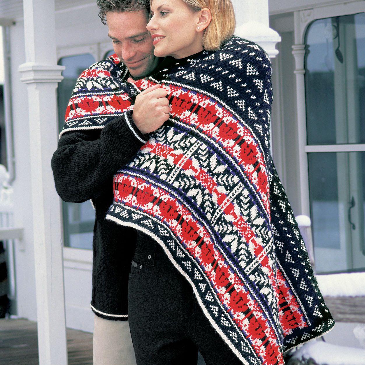Patons Nordic Lap Blanket | Blanket knitting patterns ...