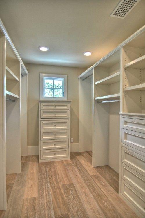 Nicely organized closet
