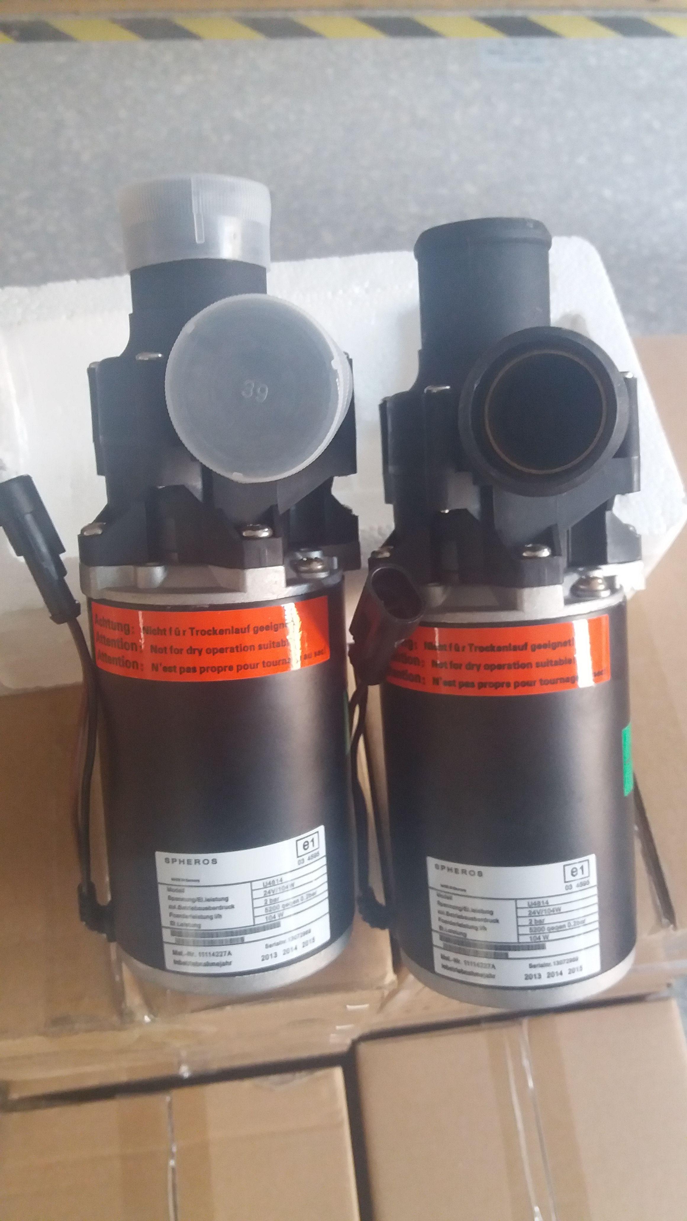 Spheros Water Pump Model No. 4814, 24V/104W,for Yutong Bus