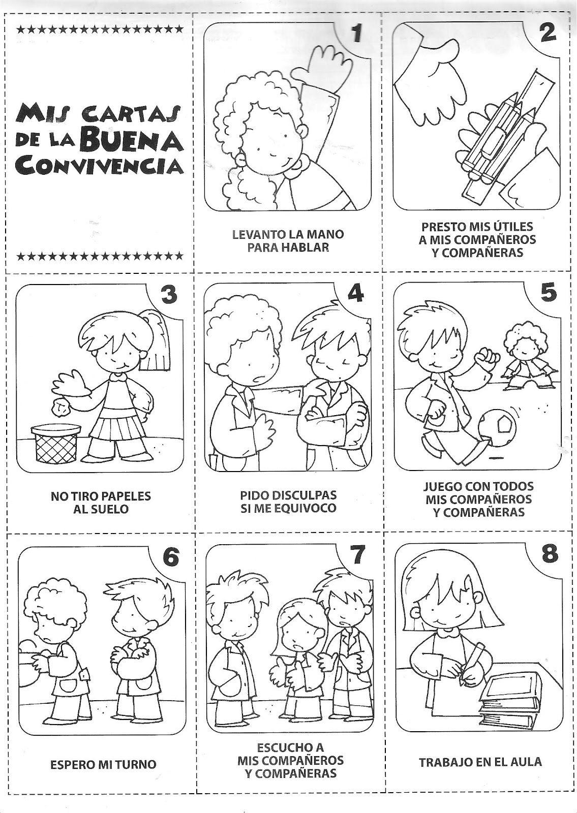 Dibujos para colorear normas de convivencia - Imagui | Acciones ...