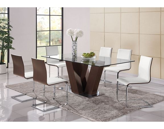 American Signature Furniture   Delta II Dining Room Collection Table $389.99