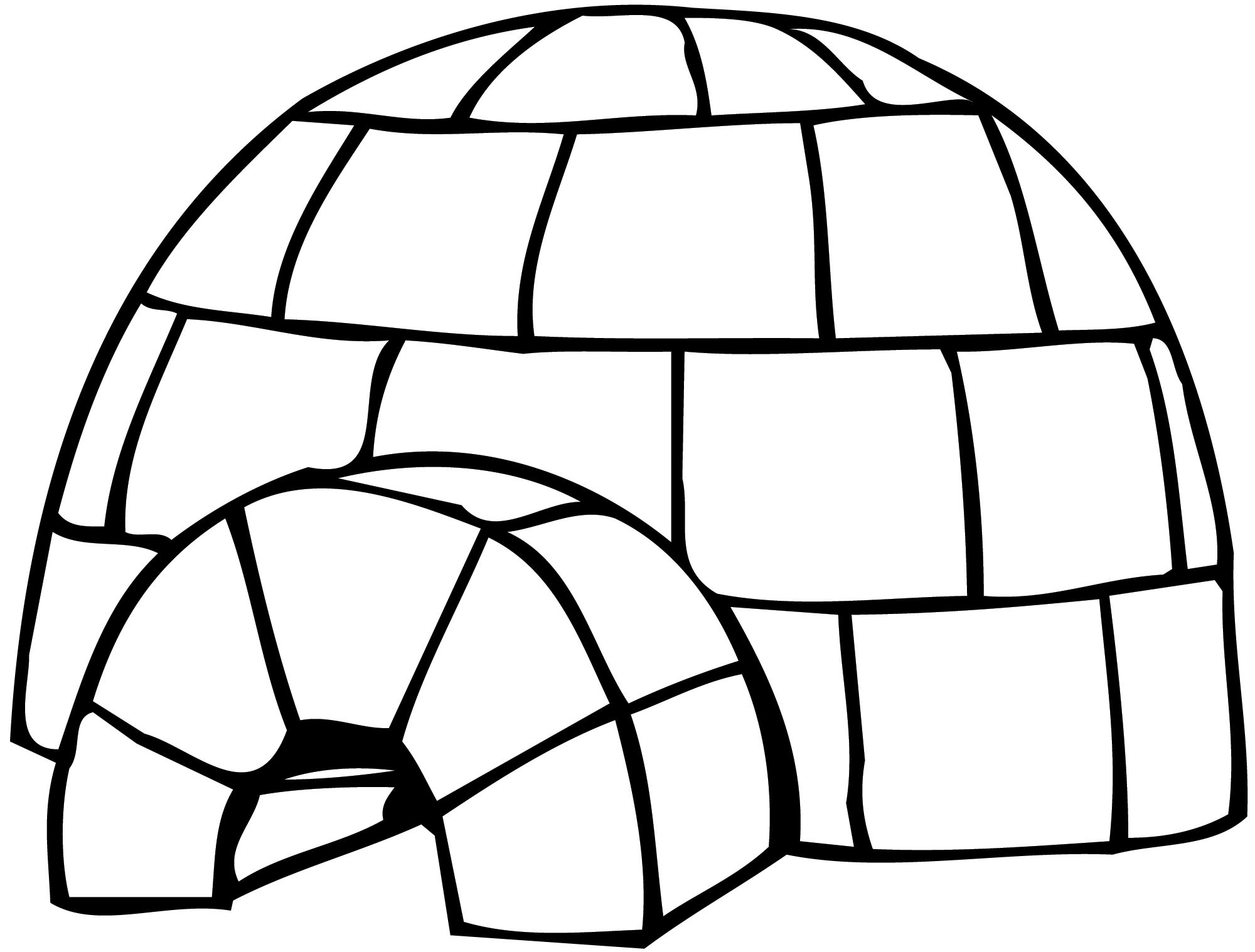 igloo coloring pages teachers - photo#23