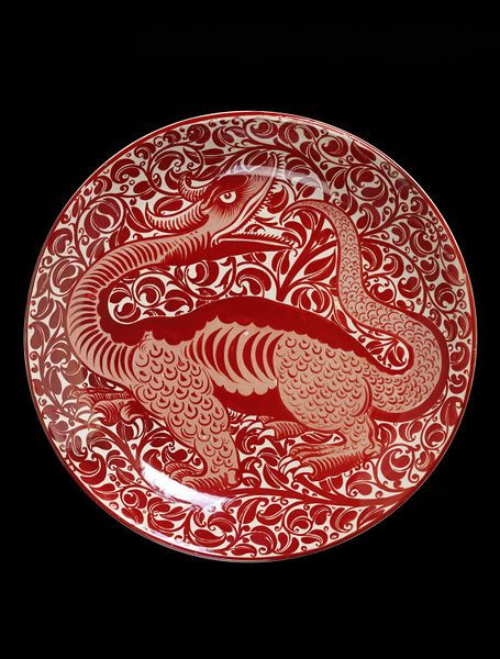 Dish Place of origin: England, Great Britain (made) Date: ca. 1885 (made) Artist/Maker: De Morgan, William Frend, born 1839 - died 1917 (designer) William De Morgan, Merton Abbey Factory (probably, maker) Materials and Techniques: Earthenware with lustre decoration