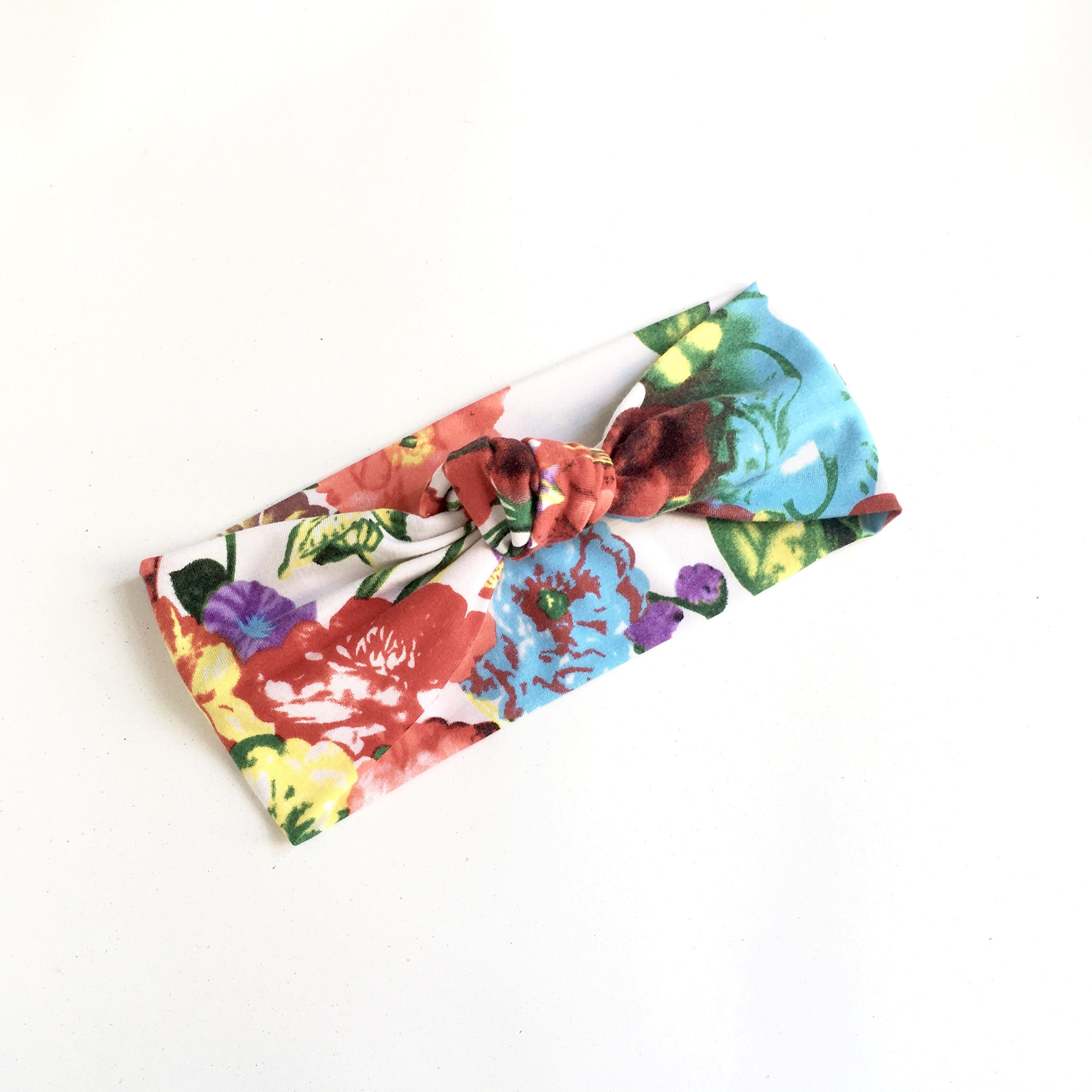 Knotted Headband for Women, Colorful Headband, Top Knot Headband, Floral Headband, Turban Headband, Jersey Hair Band, Summer Headband