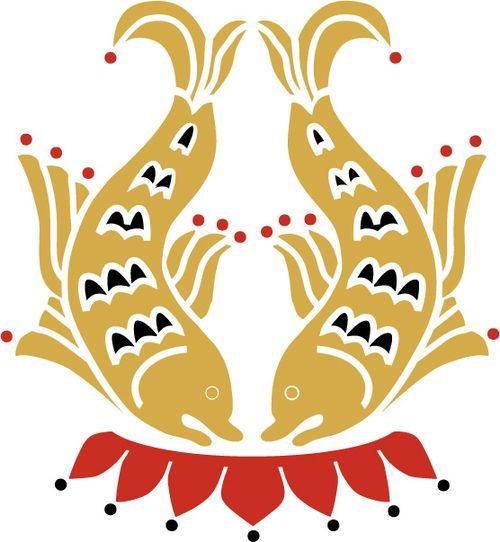 The Auspicious Symbol Of 2 Golden Fish In Buddhism Symbolizes Happiness Fertility Abundance And All Living Things A State Fearlessness