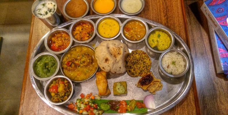 Best Rajasthani Restaurants In Delhi For A Lavish Rajasthani Thali Vegetarian Buffet Gujarati Recipes Rajasthani Food