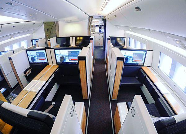 new swiss first class cabin on b777 300er transportation first rh pinterest com