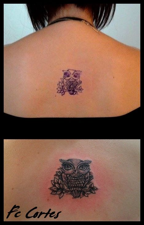 #buho #tattoo #espalda