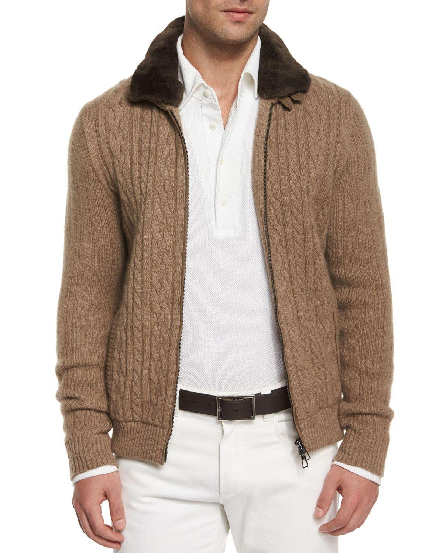 6e6cfa80652a Loro Piana Traveler Jacket with Fur-Trimmed Collar