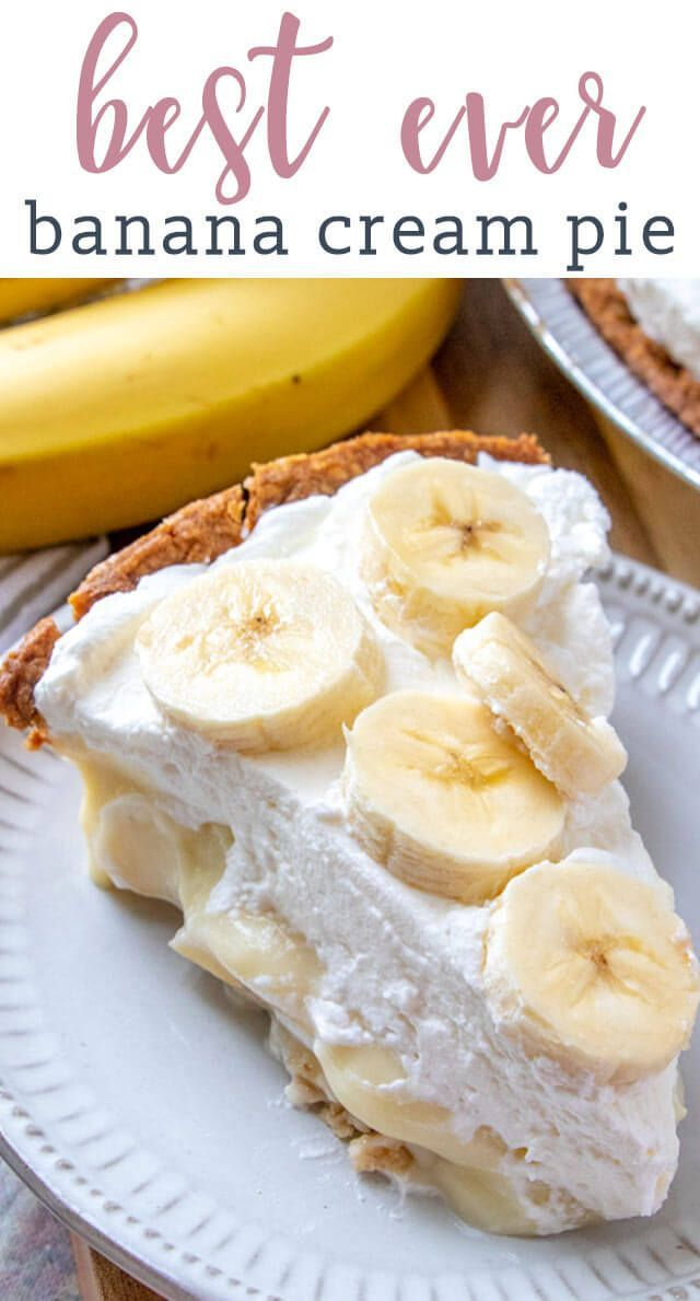 Banana Cream Pie Recipe {Easy From Scratch Cream Pie} #bananadessertrecipes