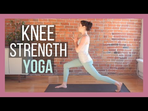 beginner yoga for knee strength  youtube with images