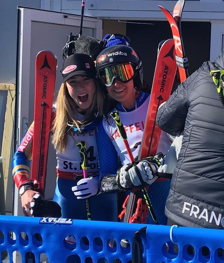 Mikaela Shiffrin And Sofia Goggia Mikaela Shiffrin Skiing Ski Racing