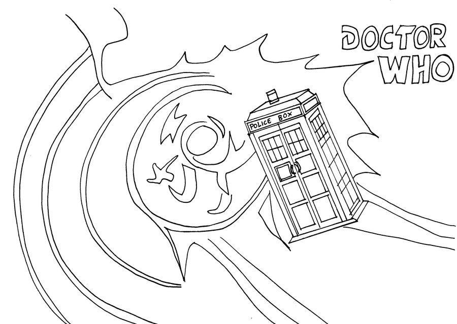 tardis coloring page coloring pages first doctordoctor whoembroidery