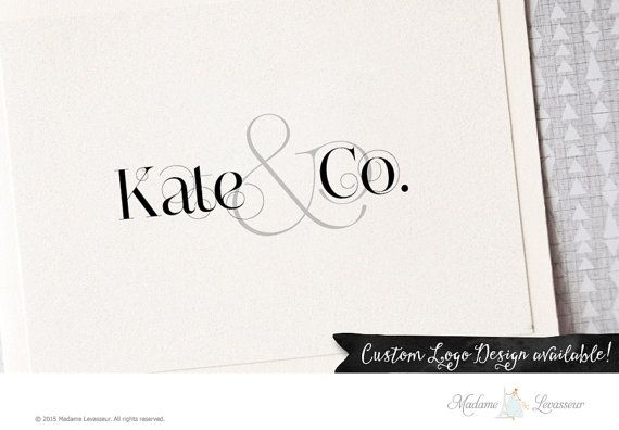 Premade logo design ampersand logo text logo vintage logo website logo blog logo boutique