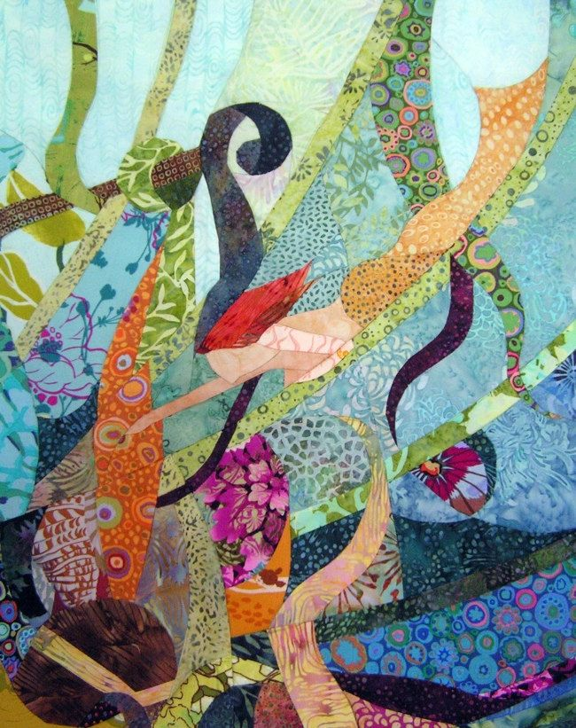 Little Mermaid - Quilt Fabric Art - CCollier
