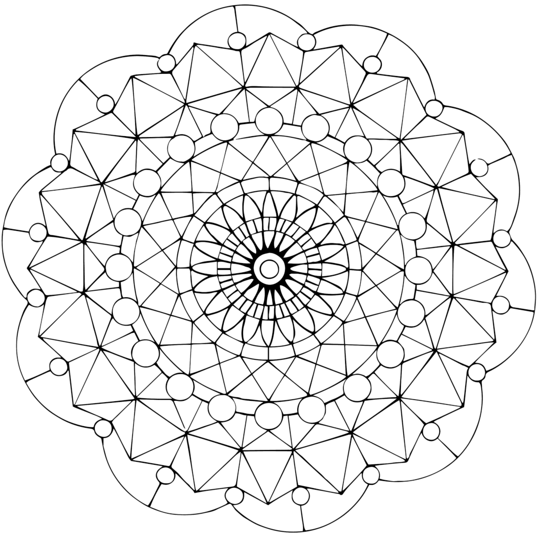 Doilies are a flat circular mat usually made of stringed fabric or