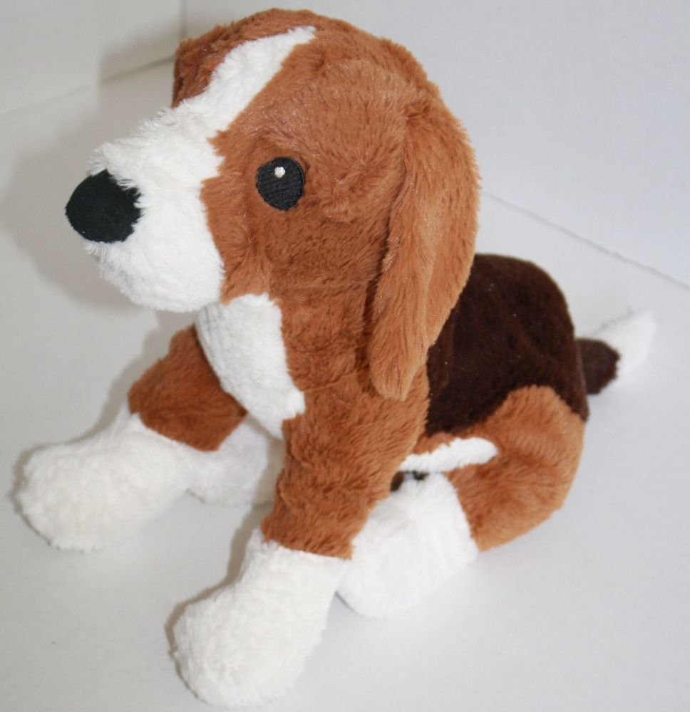 Ikea Gosig Valp Beagle Dog Tan Brown White Plush Soft Stuffed
