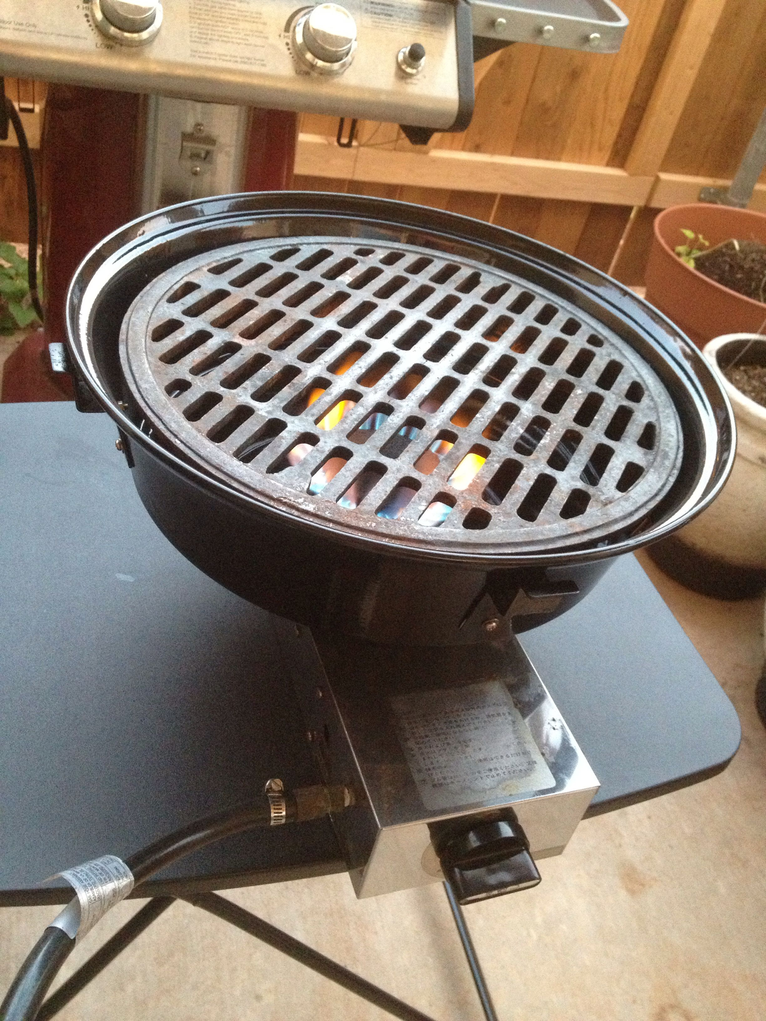 In Table Gas Grill Repainted Scrubbed And Waiting For A Table To Go In I Love Yakiniku