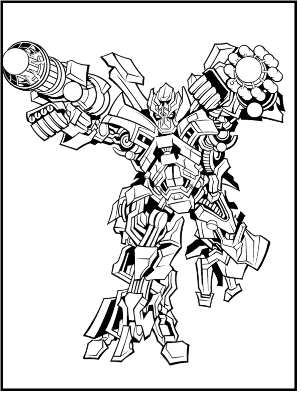 Ironhide Robot Transformer coloring picture for kids | Transformers ...