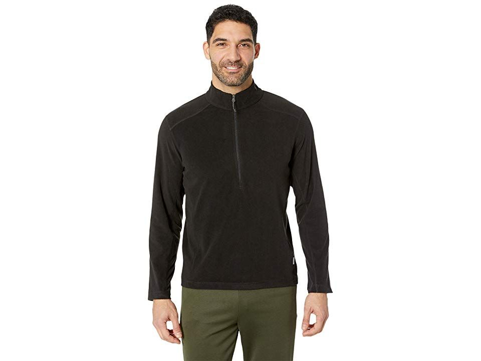 White Sierra Baz Az 1/4 Zip (Black) Men's Clothing. A year-round staple  you'll find yourself reaching for the White Sierra Baz Az 1/4 Zip fleece again and again! Pullover fleece in a lightweight microfleece flaunts a classic  regular fit that's perfect for layering. Stand collar with quarter-zip closure. Long sleeves. Seams off the shoulder for backpack-friendly wear. Straight hemline. 100% polyester. Machine wash  tumble dry #WhiteSierra #Apparel #Top #GeneralTop #Black