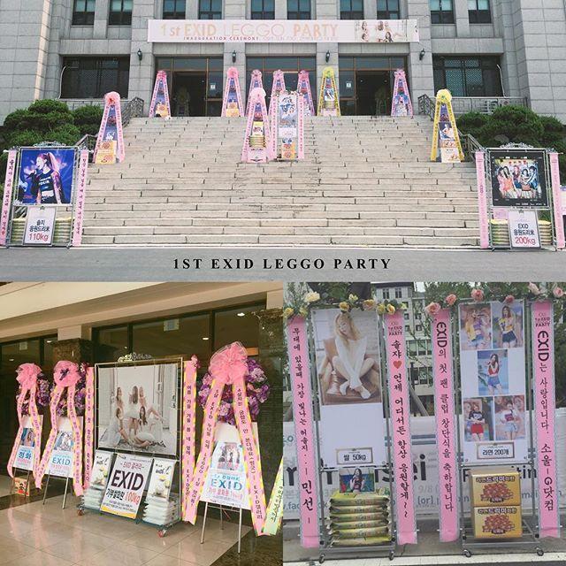 [#EXID] #1st_EXID_LEGGO_PARTY 를 축하하는 #LEGGO 여러분들의 사랑과 정성 따뜻한 마음이 공연장에 도착했습니다…