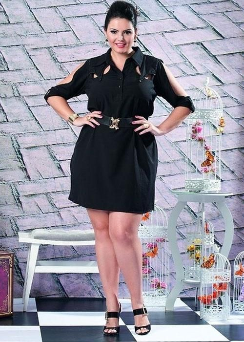 Vestido Chemisier Preto - Liló Fashion Plus Size - R$ 295,00