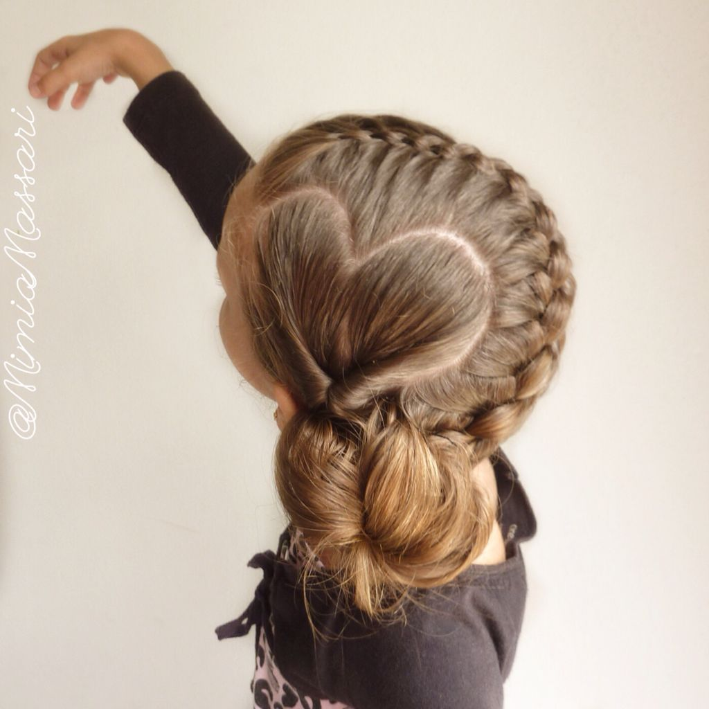 Heart parting and strand french braid saç modelleri hairstyles