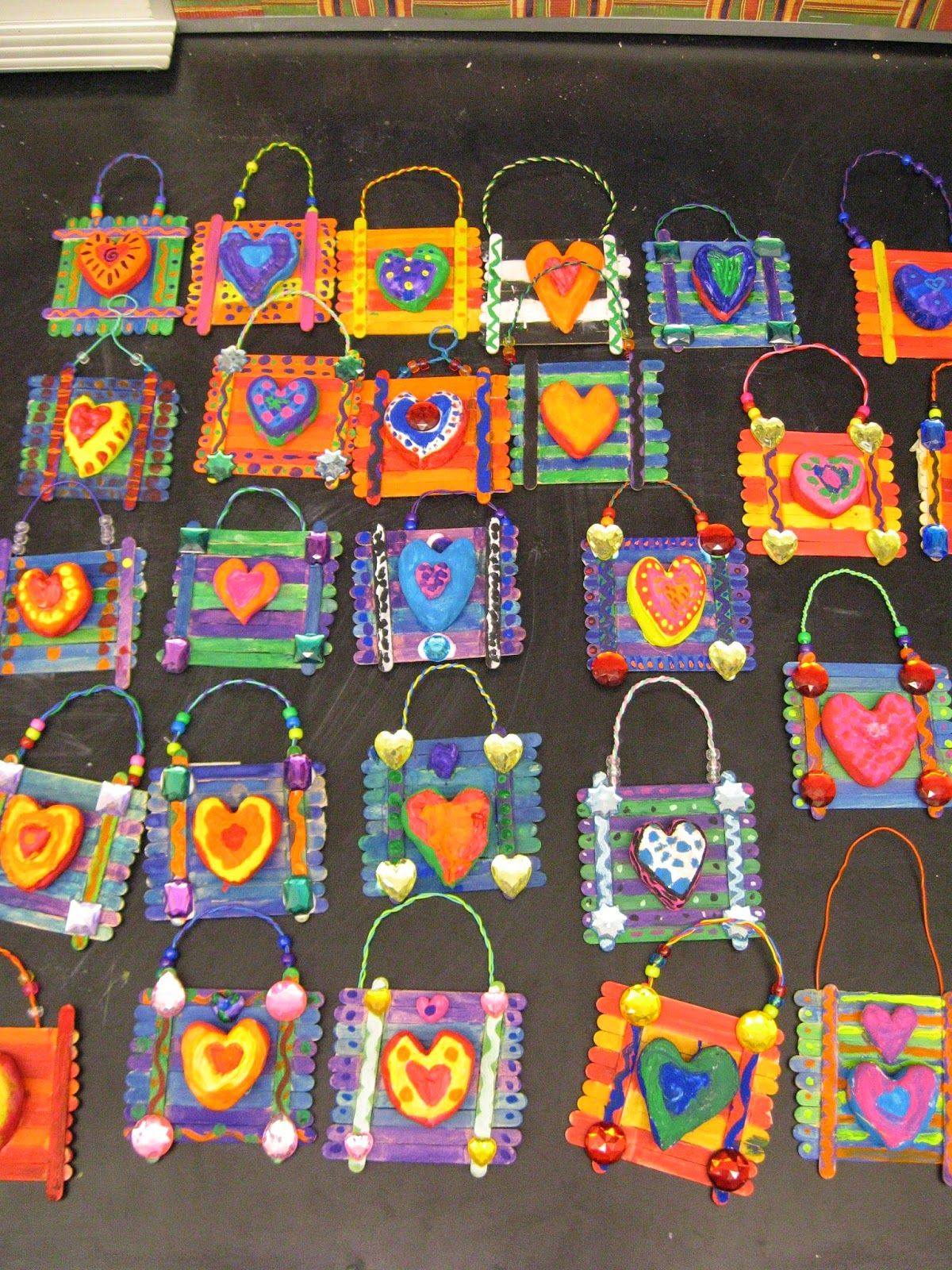Jamestown Elementary Art Blog 3rd Grade Jim Dine Heart Plaques