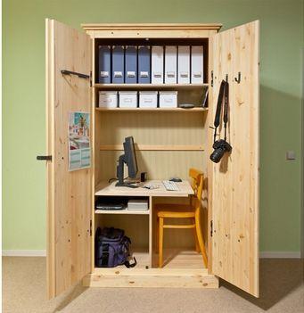 Arbeitsplatz: kleines Büro im Schrank | Einrichtung in 2019 ...