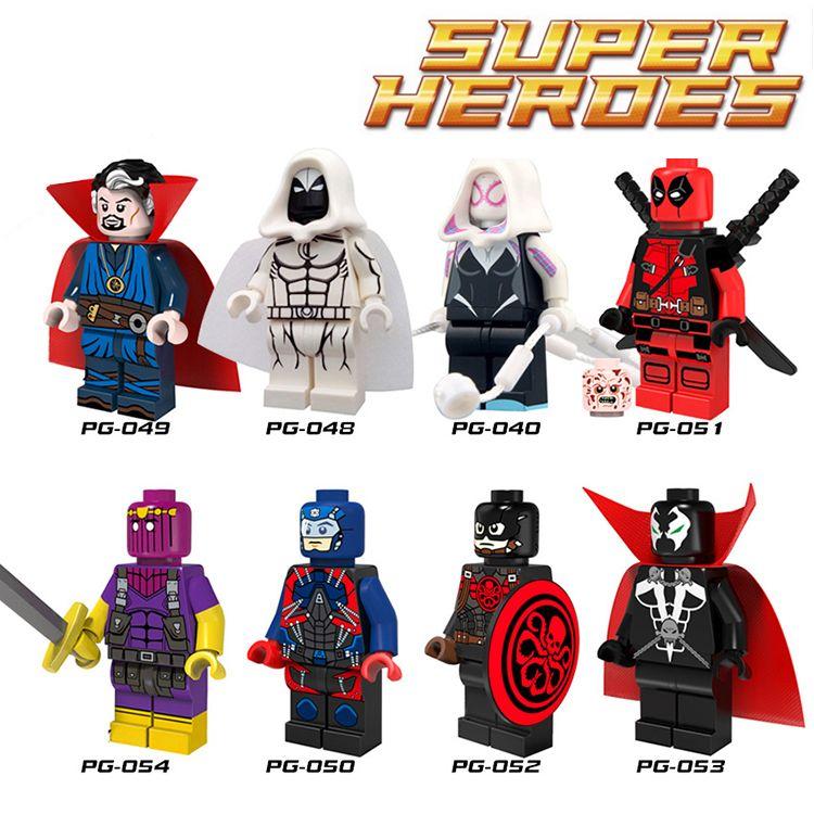 1 unid deadpool diy figuras marvel super heroes doctor strange atom ...