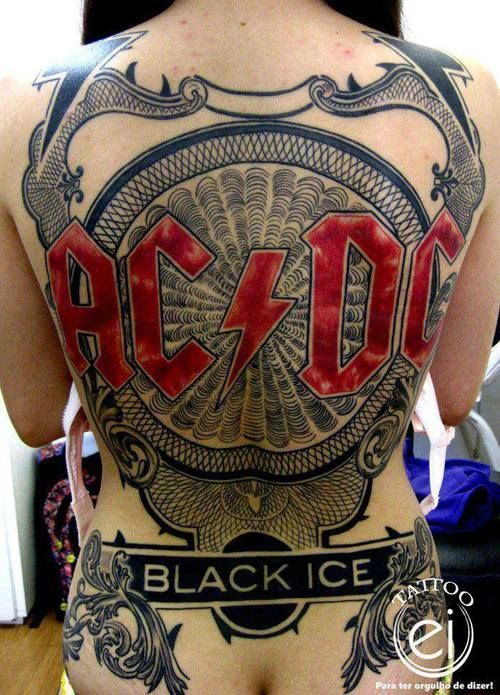 Tatuagem Da Banda Acdc Black Ice Tattoo Acdc Tattoo Metal