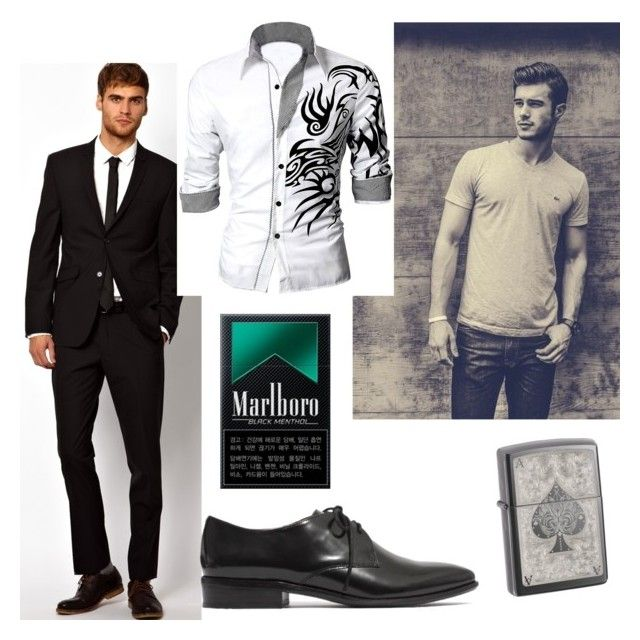 """""""*puts is cigarette pack, in his pocket, sitting in the waiting room* ~ Devon"""" by clairestone ❤ liked on Polyvore featuring Mode, SELECTED, Madewell und Zippo"""