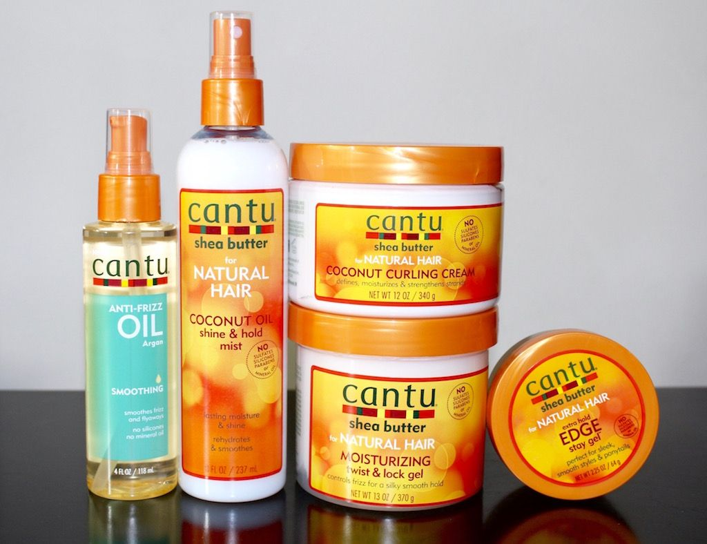 Cantu Shea Butter Natural Hair Collection + A Finger Coil