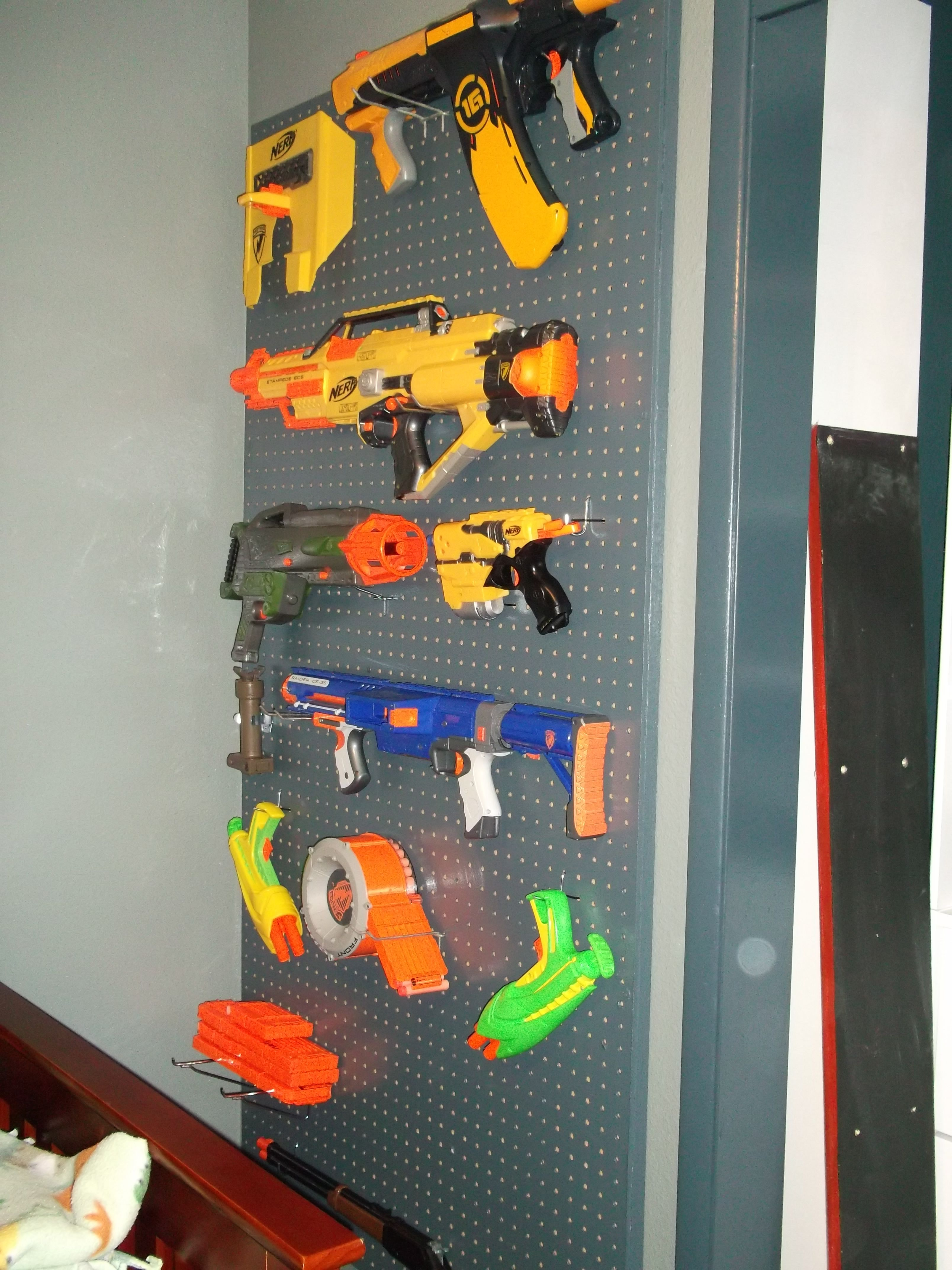 Nerf Gun Peg Board My Lil Guy Needs This