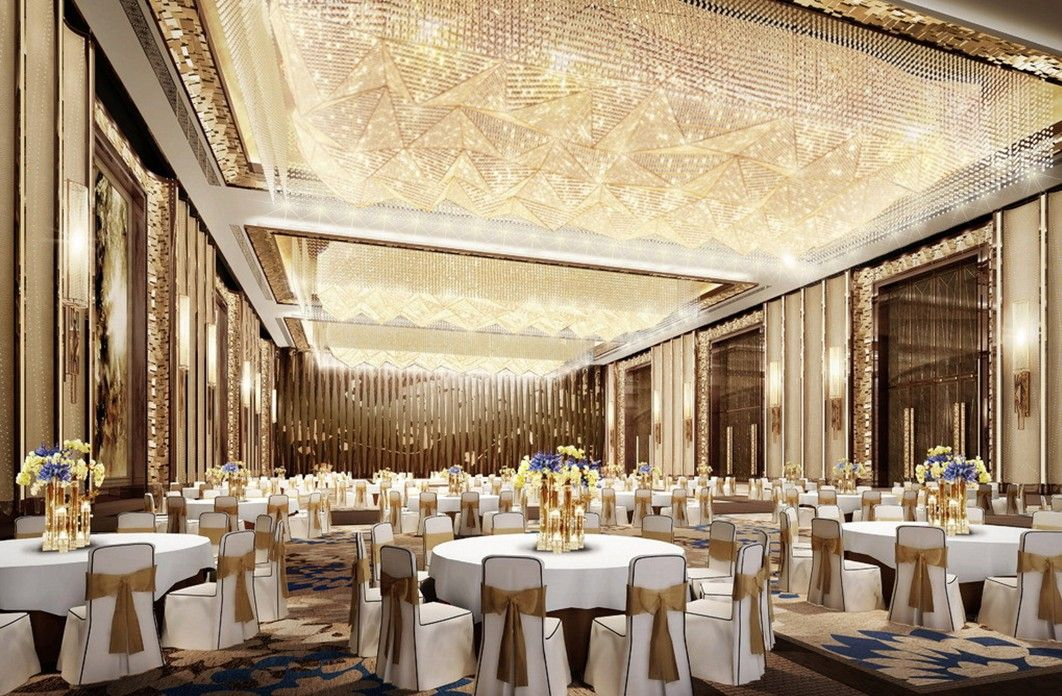 Wedding Banquet Halls Luxury Lighting Design Rendering