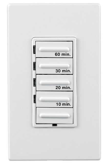 Leviton Decora Electronic Countdown Timer Exhaust Fan Timers Bath Fans Should Stay On For At Least One Hour After Baths Or Showers To Effectively