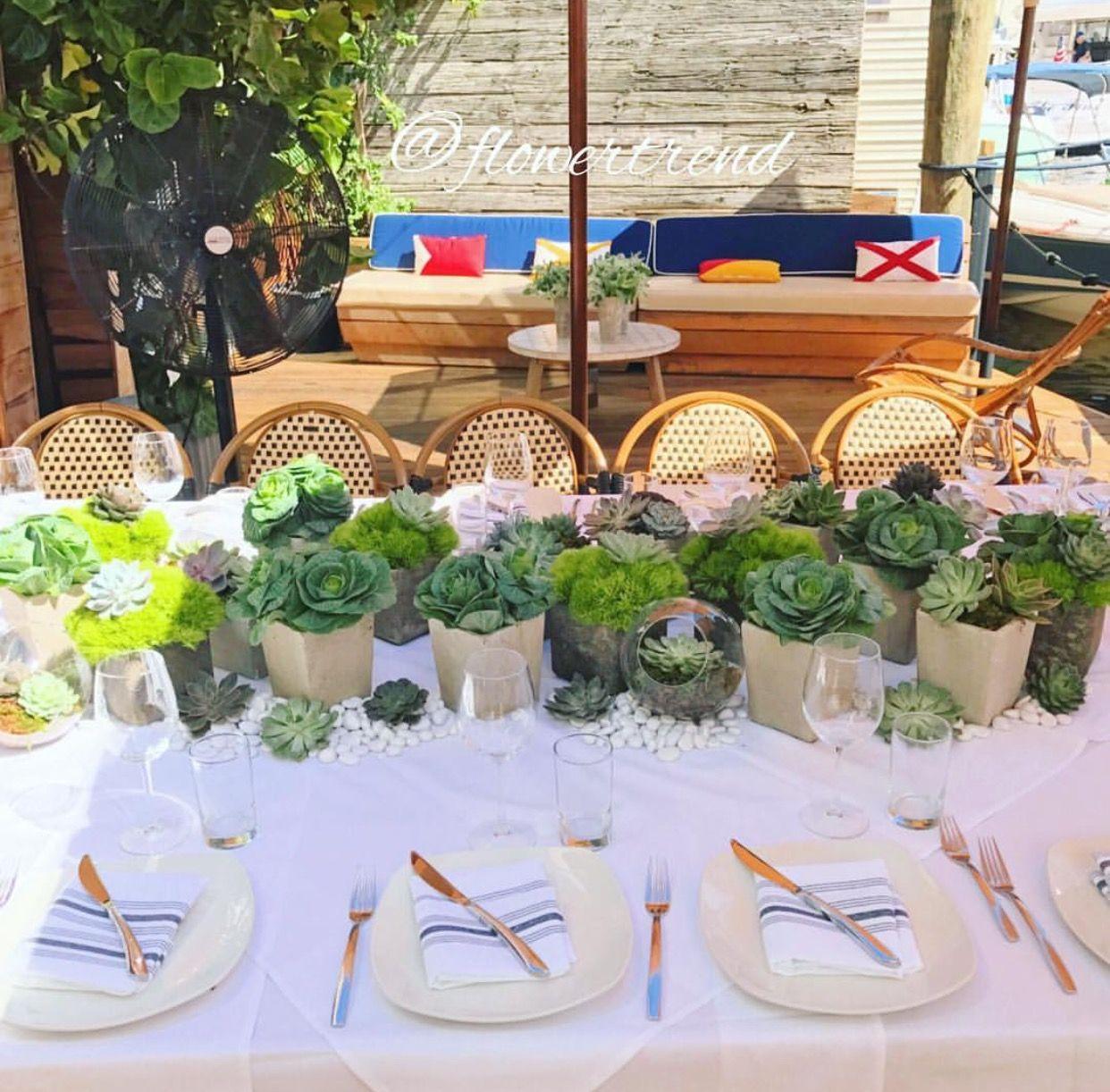 Succulent wedding table centerpieces Succulent wedding