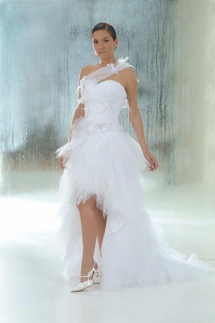 Robe de mariée Annie couture courte devant Longue derrière T34 d\u0027occasion
