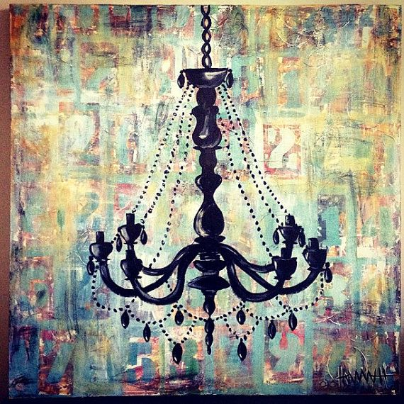 Chandelier Painting Dwelling Pinterest – Painting of Chandelier