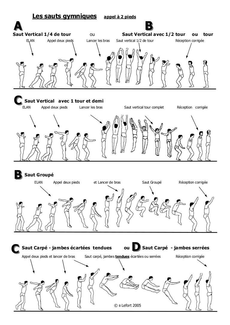 Les Sauts Gymniques Gymnique Gymnastique Personnages