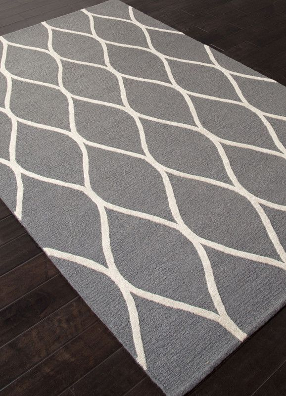 Jaipur Rugs Rug112623 Hand Tufted Looped Cut Wool Gray Ivory Area Rug