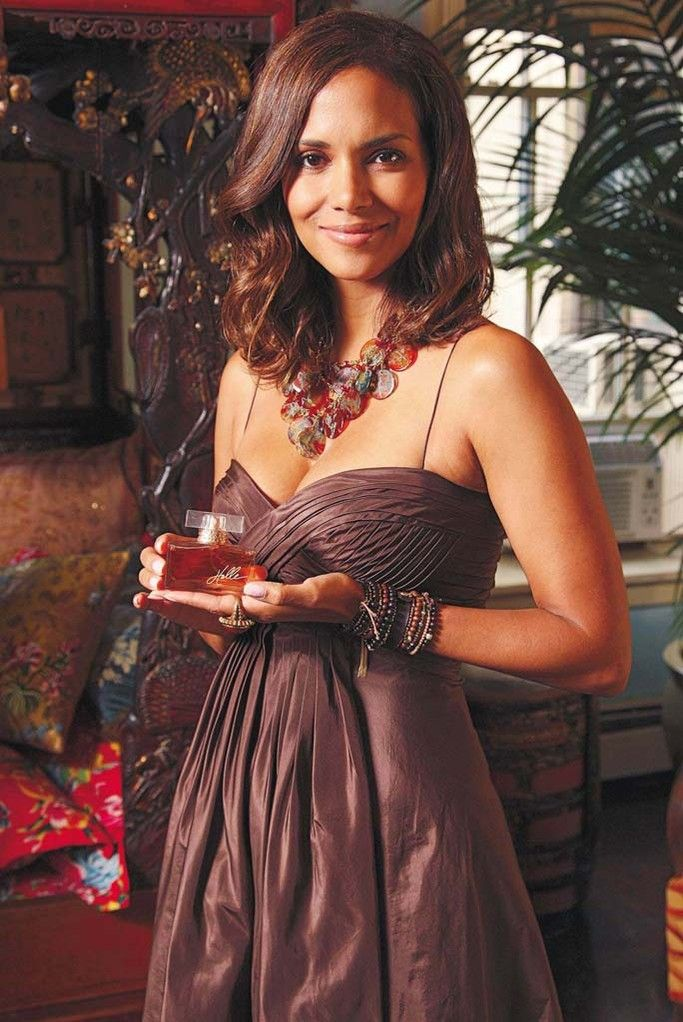 Halle Berry at the launch of her first scent, 2008.