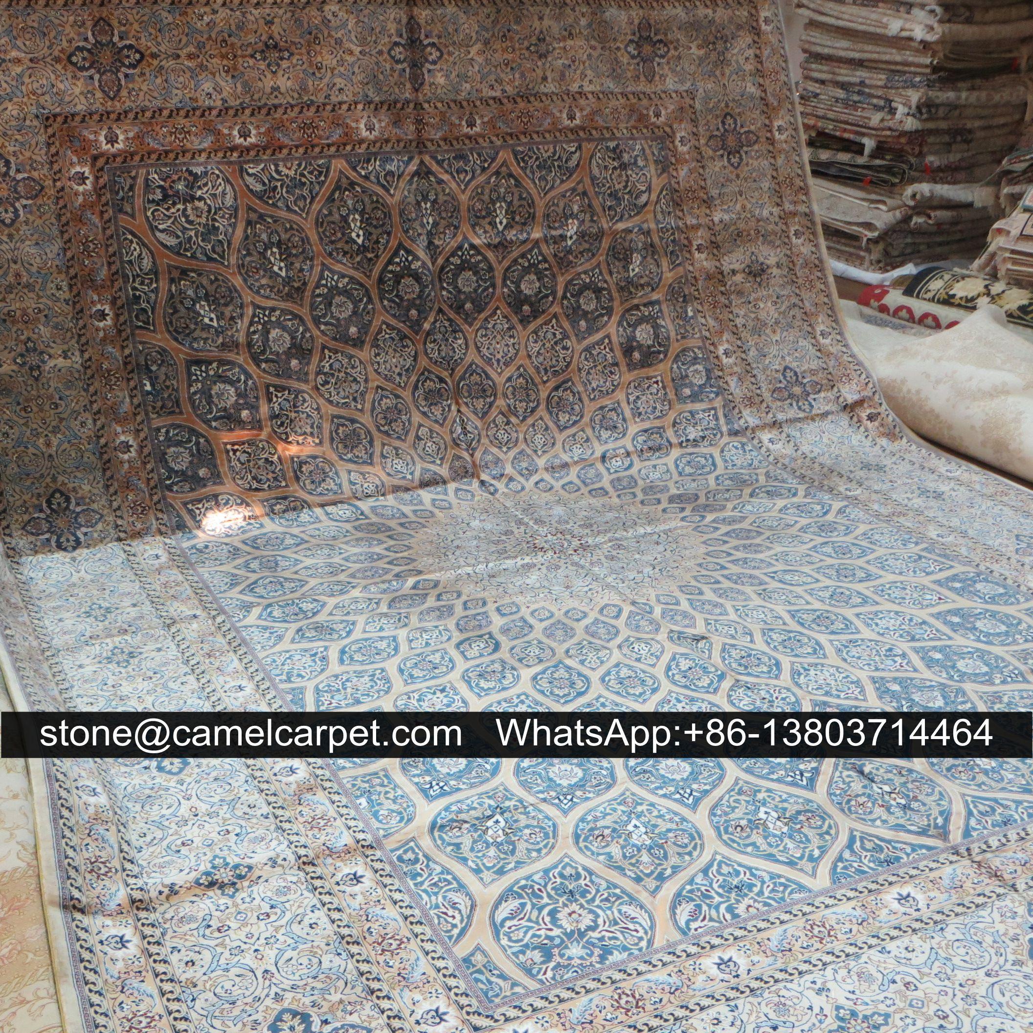 Qum silk carpet,size10ftx14ft