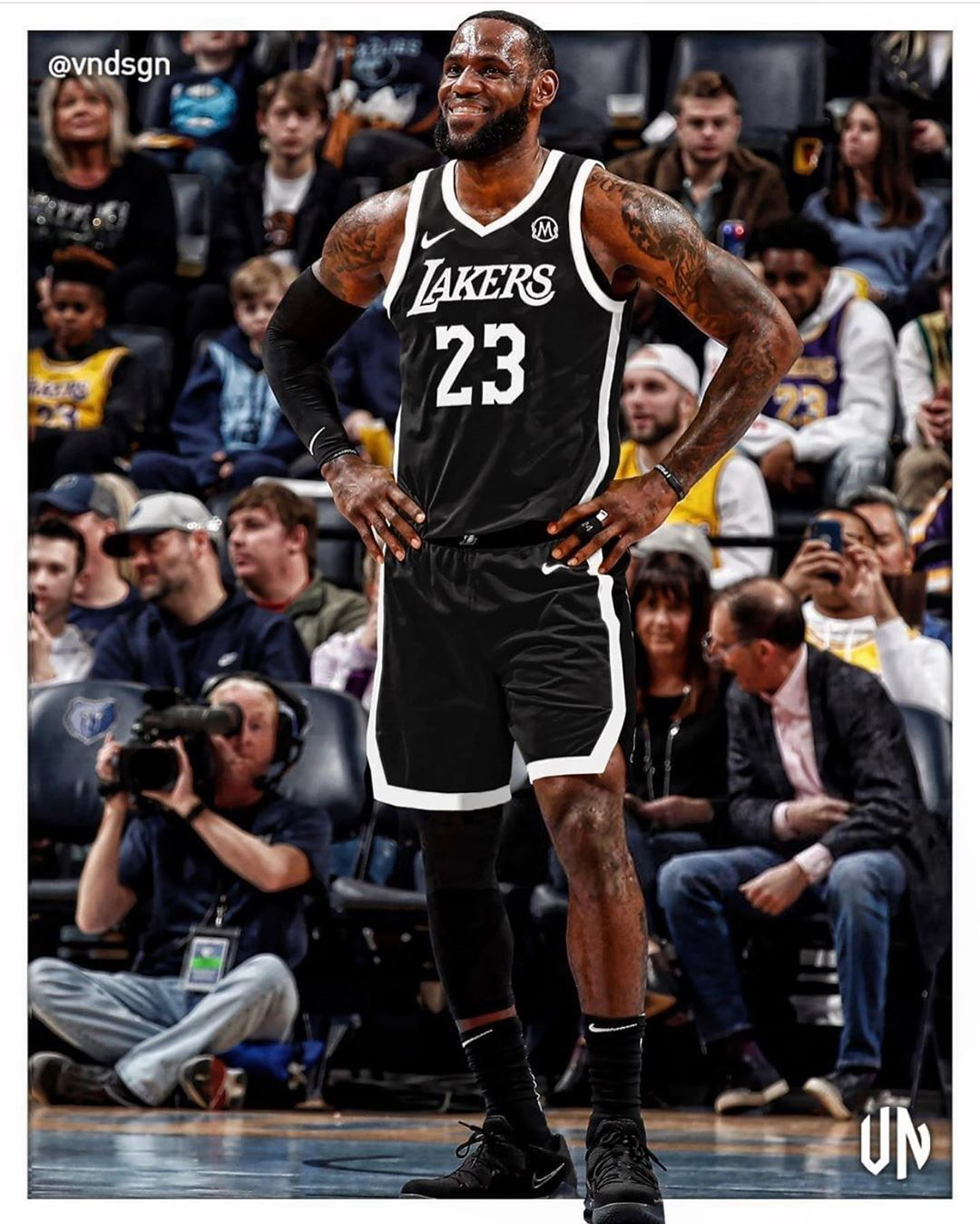 LeBron James in the 'Mamba Sports Academy' jersey