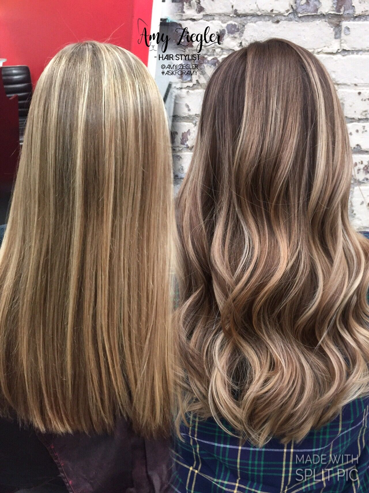 Before After Smudged Root Blonde Balayage By Amy Ziegler