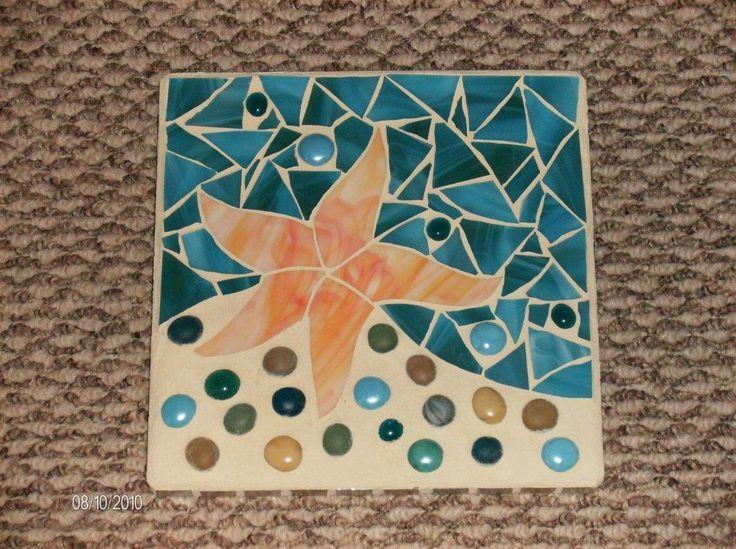 Fish Mosaic Patterns Collection Cute Starfish